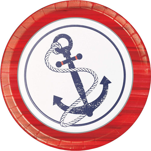 Plate Large, Anchor Away- 24ct