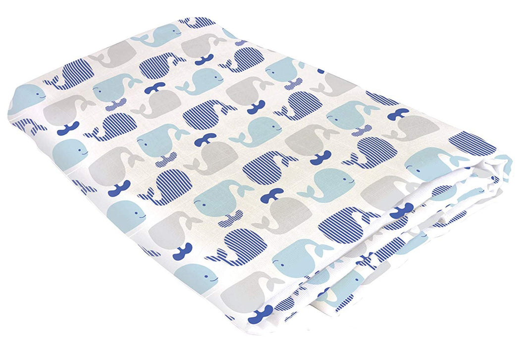 Swaddle Blanket, Whale by Stephan Baby