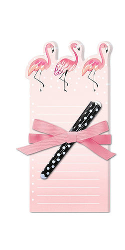 Note Pad With Pen, Flamingo by Lady Jayne