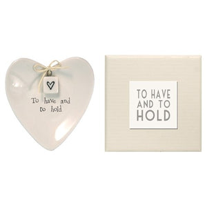 "Ring Dish in Gift Box- ""To Have and Hold"" by Two's Company"