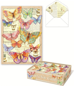 Note Cards Set, Die-Cut Butterfly  by Punch Studio