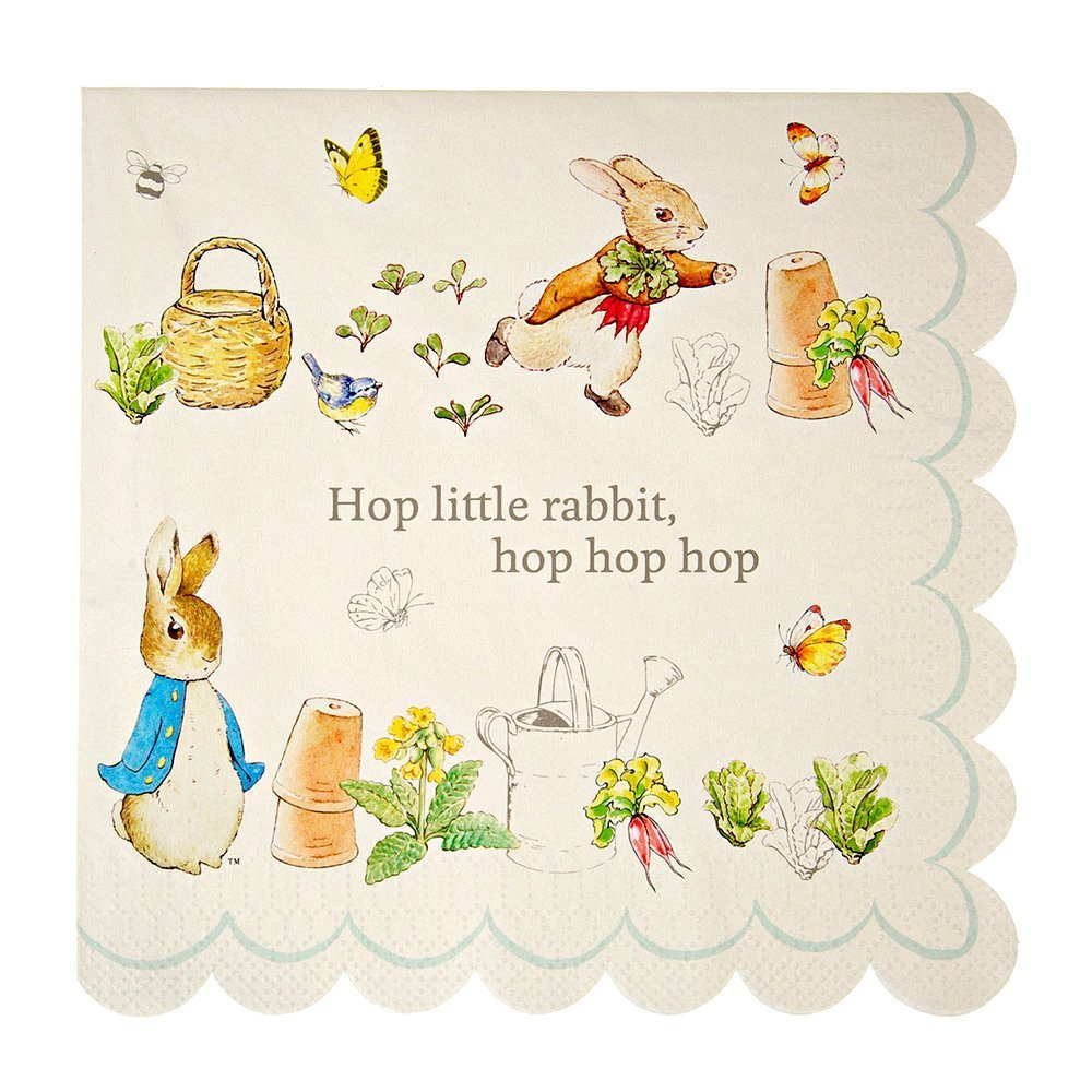 Peter Rabbit Lunch Napkin by Meri Meri