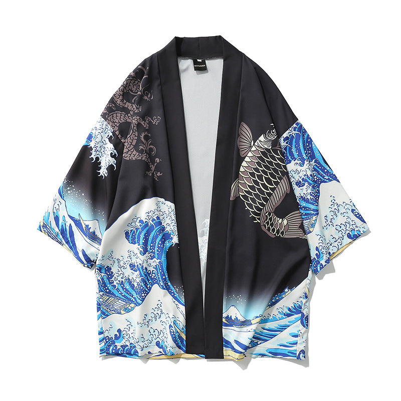 The Great Wave Kimono - Ice Cold Lmnd The Great Wave Kimono