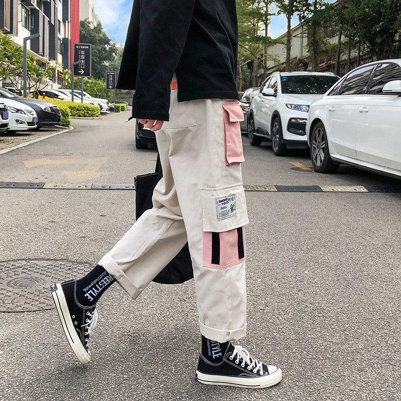 Embroidery Japanese Style Pants - Ice Cold Lmnd Embroidery Japanese Style Pants