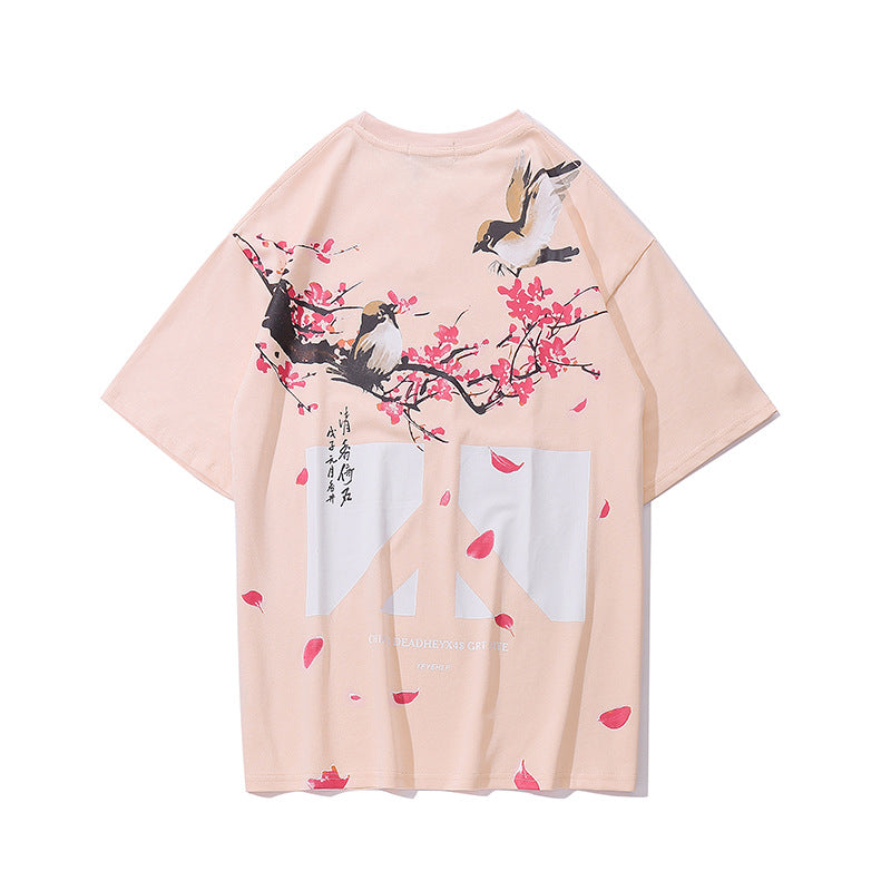 Cherry Blossom Short Sleeve T-Shirt - Ice Cold Lmnd Cherry Blossom Short Sleeve T-Shirt
