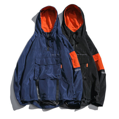 Pullover Hooded Windbreaker - Ice Cold Lmnd Pullover Hooded Windbreaker