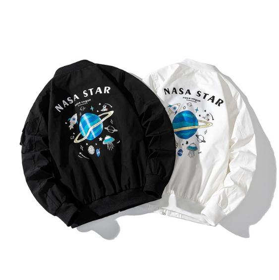 Orbit NASA Star Bomber Jacket - Ice Cold Lmnd Orbit NASA Star Bomber Jacket