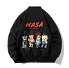 Teddy NASA Bomber Jacket - Ice Cold Lmnd Teddy NASA Bomber Jacket