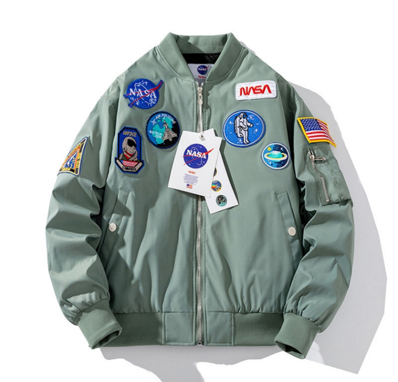 NASA Mission Badges Bomber Jacket - Ice Cold Lmnd NASA Mission Badges Bomber Jacket