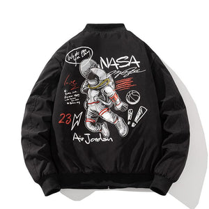 """Air Jordan"" Thick NASA Bomber Jacket - Ice Cold Lmnd ""Air Jordan"" Thick NASA Bomber Jacket"
