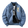 Retro NASA Thick Bomber Jacket - Ice Cold Lmnd Retro NASA Thick Bomber Jacket