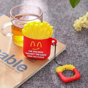Burger & Fries Silicone AirPods Cases - Ice Cold Lmnd Burger & Fries Silicone AirPods Cases
