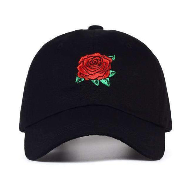 Ice Cold Lmnd hat Black Rose Dad Hat ice cold lmnd streetwear