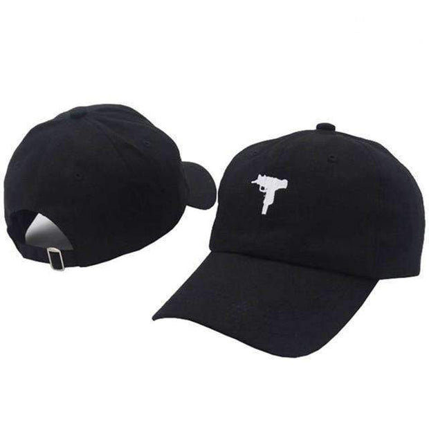 Ice Cold Lmnd hat Black Uzi Dad Hat ice cold lmnd streetwear