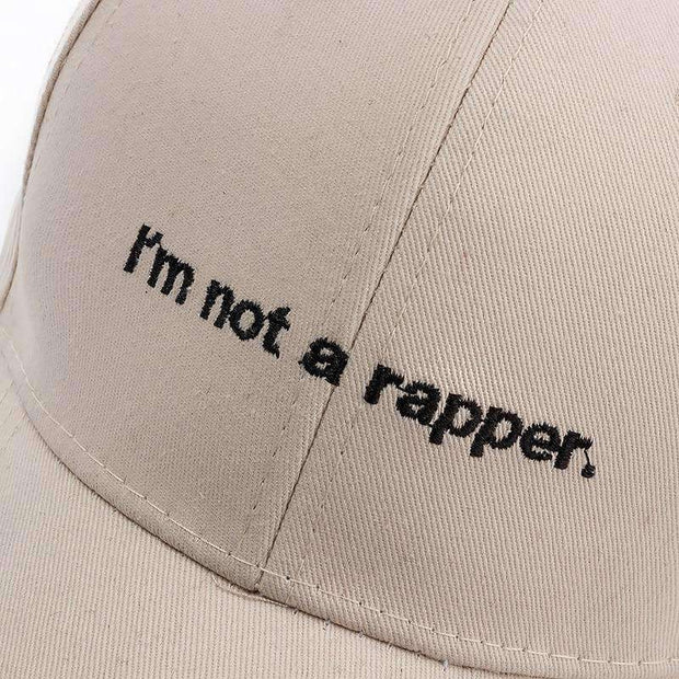 "Ice Cold Lmnd hat White ""I'm not a rapper"" Dad Hat ice cold lmnd streetwear"