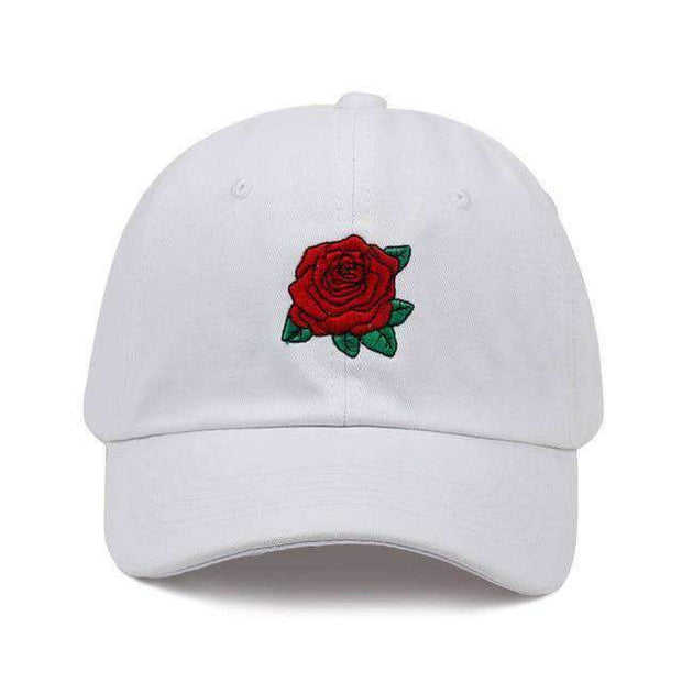 Ice Cold Lmnd hat White Rose Dad Hat ice cold lmnd streetwear