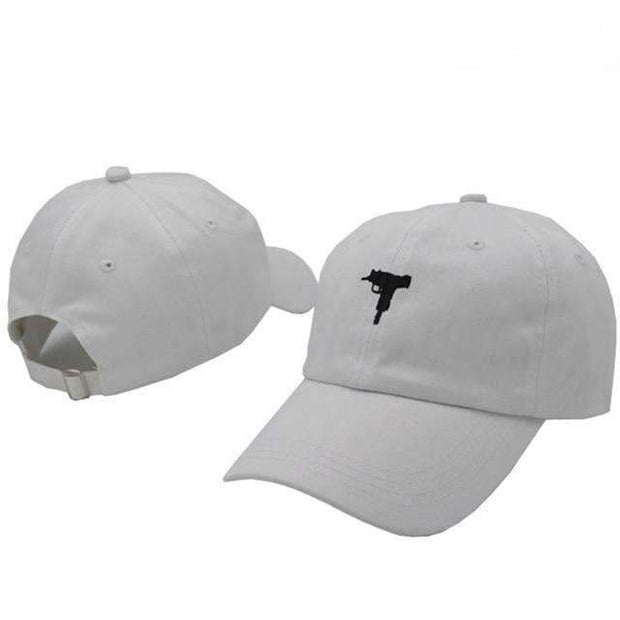 Ice Cold Lmnd hat White Uzi Dad Hat ice cold lmnd streetwear