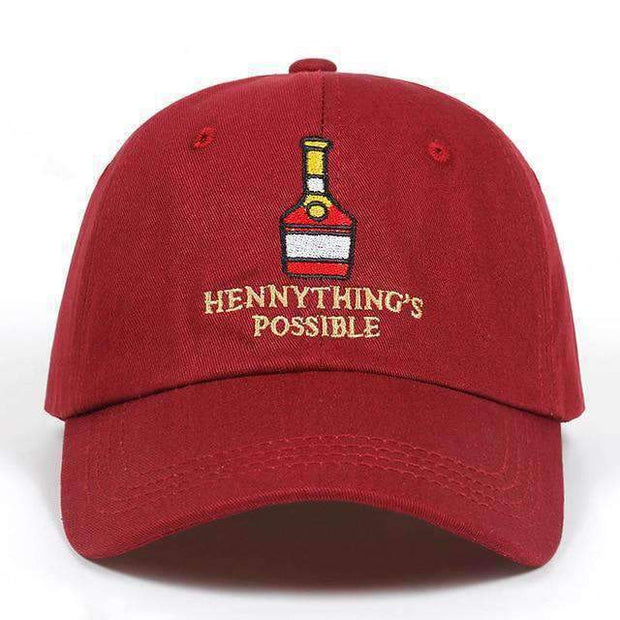 Ice Cold Lmnd hat wine red Hennything's Possible Dad Hat ice cold lmnd streetwear