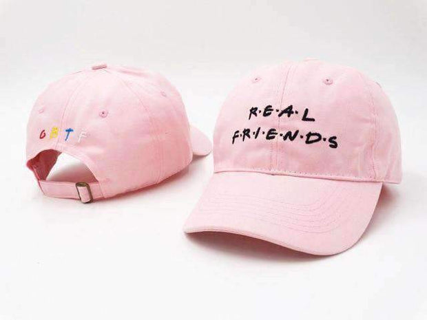Freshly Squeezed Hats Pink Real Friends Dad Hat ice cold lmnd streetwear
