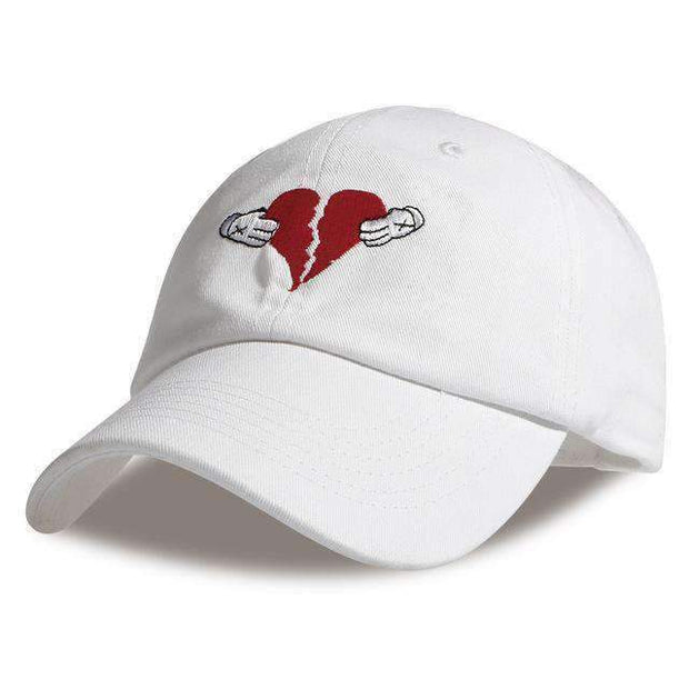 Freshly Squeezed Hats White HEARTBREAKER DAD HAT ice cold lmnd streetwear