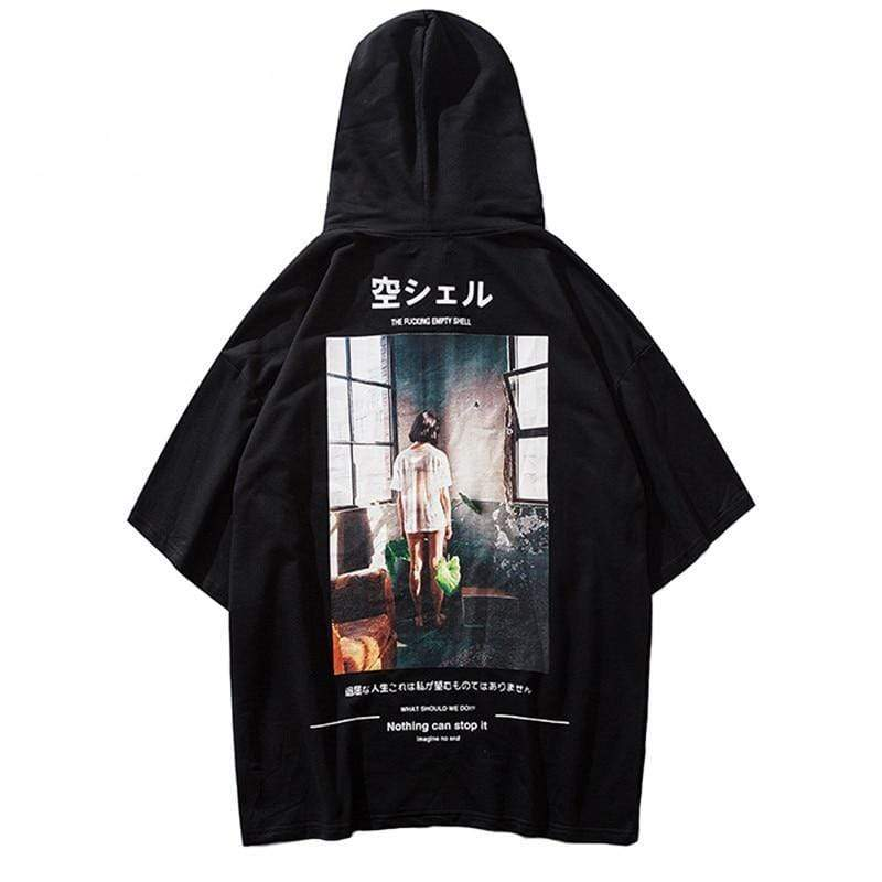 """Forever Alone"" Short Sleeve Hoodie - Ice Cold Lmnd ""Forever Alone"" Short Sleeve Hoodie"