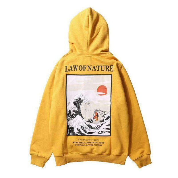 icecoldlmnd hoodie Yellow / XS Law of Nature Hoodie ice cold lmnd streetwear