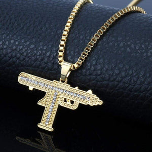 Bolt Uzi Necklace - Ice Cold Lmnd Bolt Uzi Necklace
