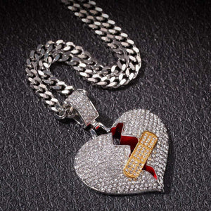 Broken Hearted Necklace - Ice Cold Lmnd Broken Hearted Necklace