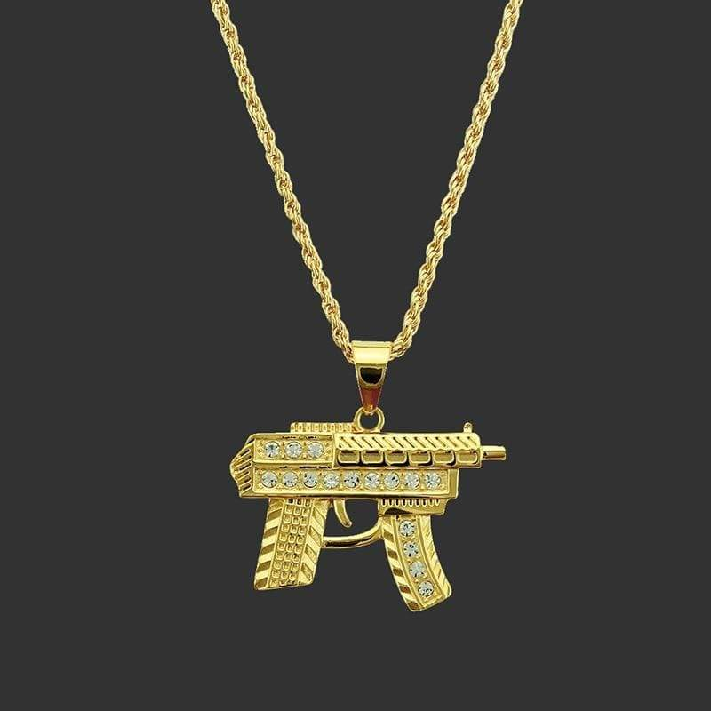 Little Uzi Necklace - Ice Cold Lmnd Little Uzi Necklace