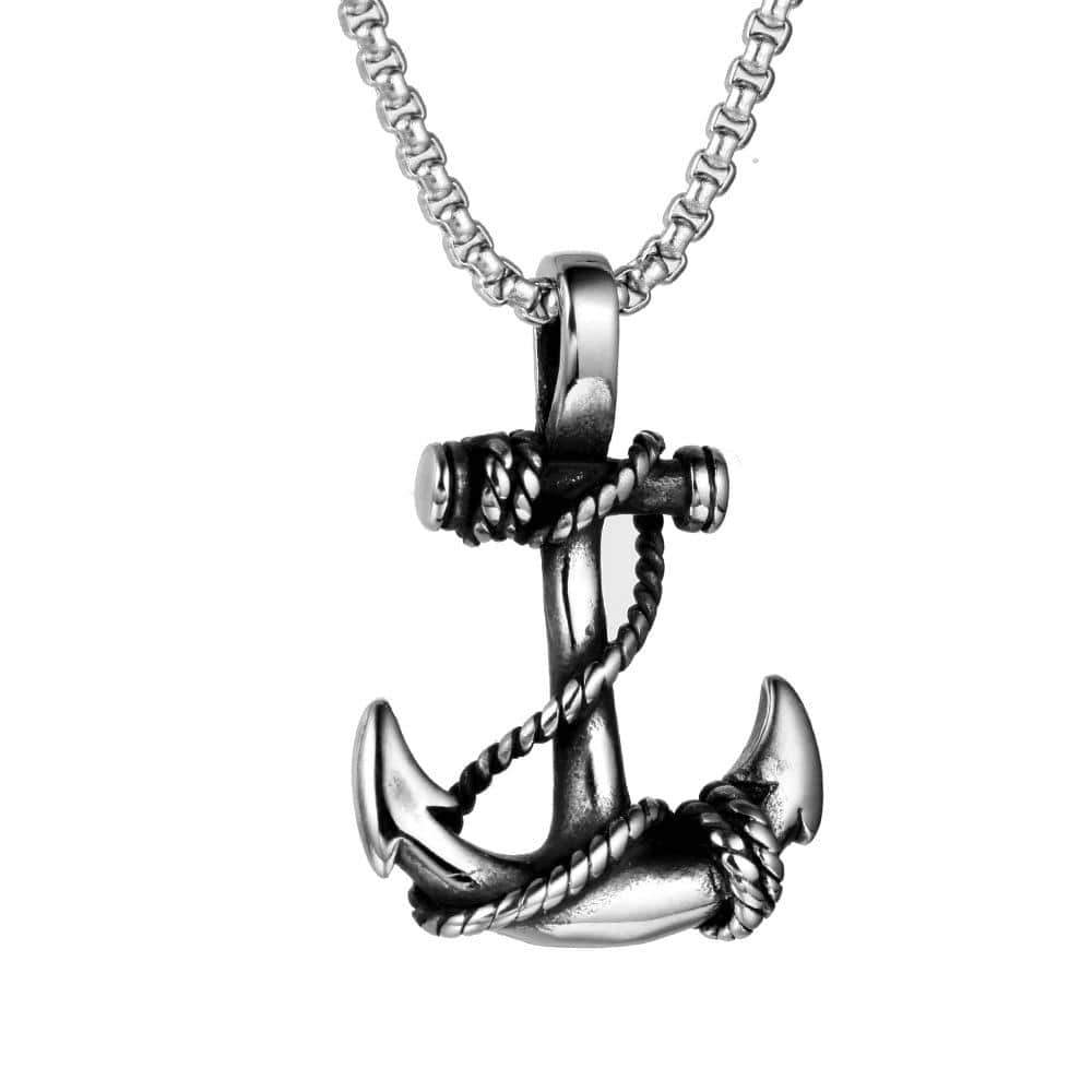 Deeper Meaning Anchor Necklace - Ice Cold Lmnd Deeper Meaning Anchor Necklace