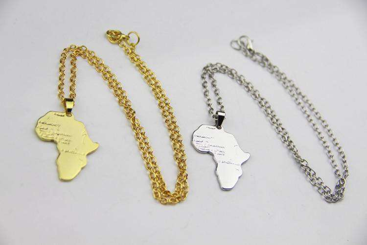 Africa Necklace - Ice Cold Lmnd Africa Necklace