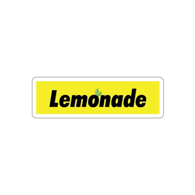 "Printify Paper products 3x3"" / White Lemonade Yellow Box Logo Kiss-Cut Stickers ice cold lmnd streetwear"