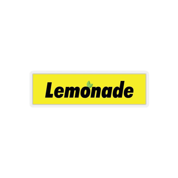 "Printify Paper products 4x4"" / Transparent Lemonade Yellow Box Logo Kiss-Cut Stickers ice cold lmnd streetwear"