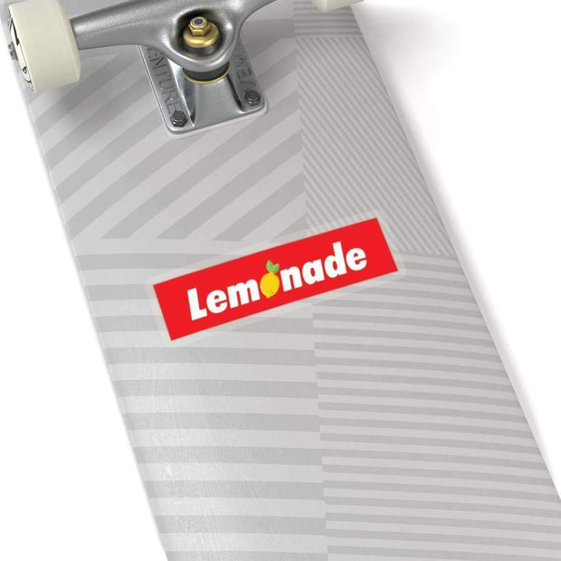"Printify Paper products 4x4"" / White Lemonade Red Box Logo Kiss-Cut Stickers ice cold lmnd streetwear"