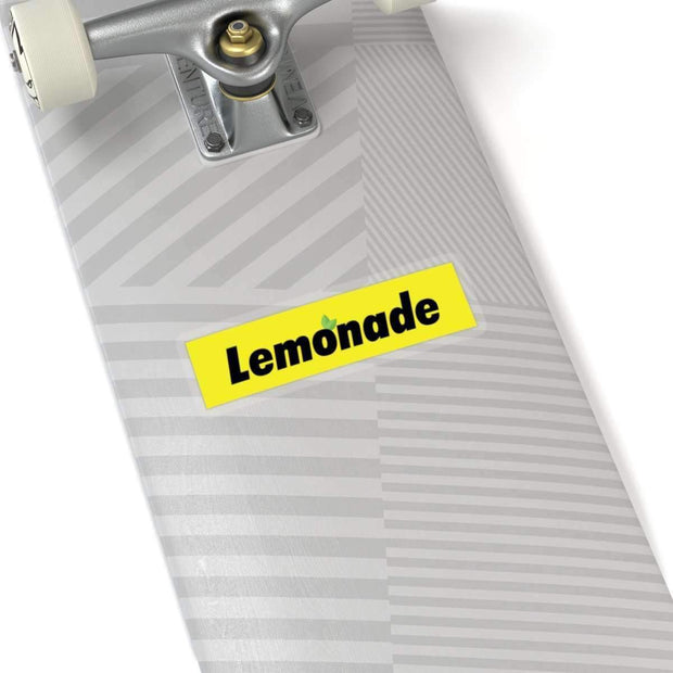 "Printify Paper products 4x4"" / White Lemonade Yellow Box Logo Kiss-Cut Stickers ice cold lmnd streetwear"