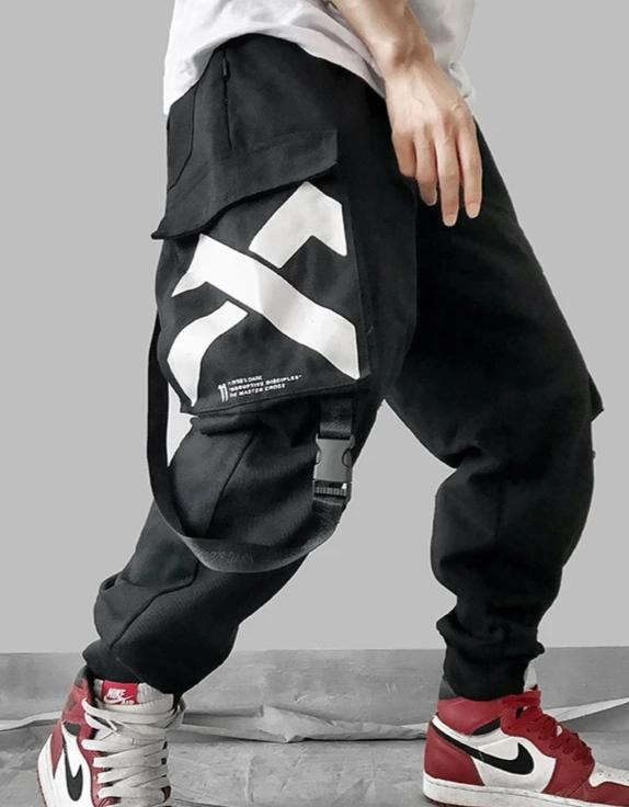 Lmnd Belted Staps Multi Pocket Cargo Pants - Ice Cold Lmnd Lmnd Belted Staps Multi Pocket Cargo Pants