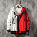 Two-Tone Patch N' Straps Hooded Jacket - Ice Cold Lmnd Two-Tone Patch N' Straps Hooded Jacket