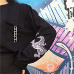 """Sureiyā"" Women's Long Sleeve Embroidery - Ice Cold Lmnd ""Sureiyā"" Women's Long Sleeve Embroidery"