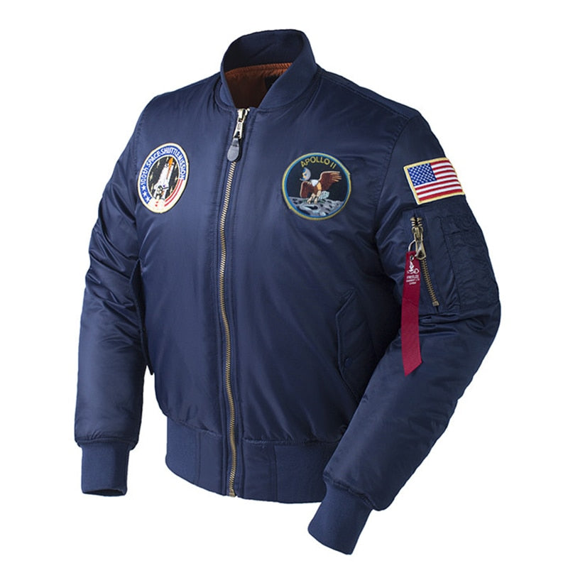2020 NASA Apollo Bomber Thick Jacket - Ice Cold Lmnd 2020 NASA Apollo Bomber Thick Jacket