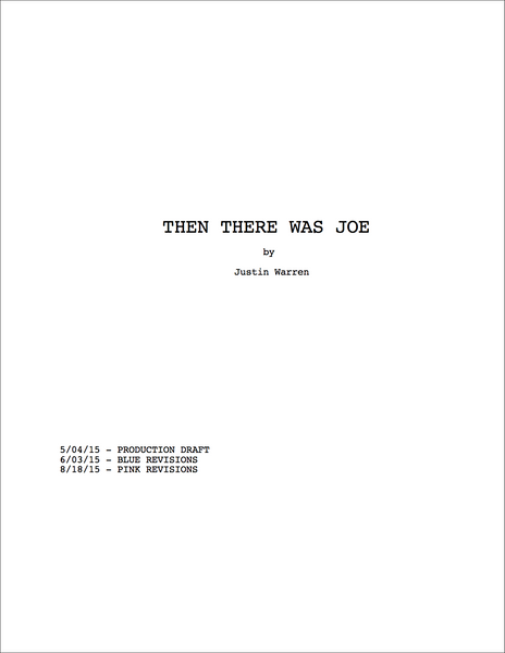 Then There Was Joe - Official Shooting Script [PDF Download]