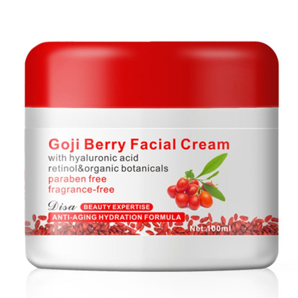 Goji Berry Facial Cream With Hyaluronic Acid Paraben Free Fragrance Free Face Cream Anti-oxidation Anti-aging Skin Firming New 60 Count