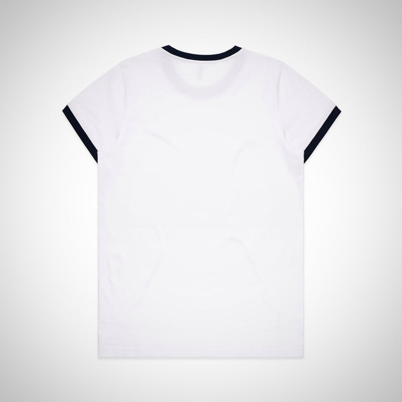 Women's Ringer Tee - Navy (AS Colour)