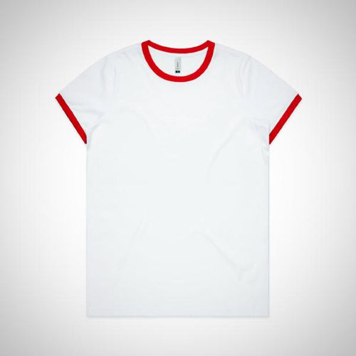 Women's Ringer Tee - Red (AS Colour)