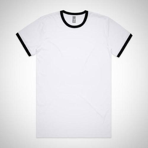 Mens Ringer Tee - Black (AS Colour)