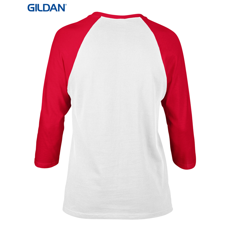 Adult Heavy Cotton Raglan 3/4 Sleeve (Gildan Brand)