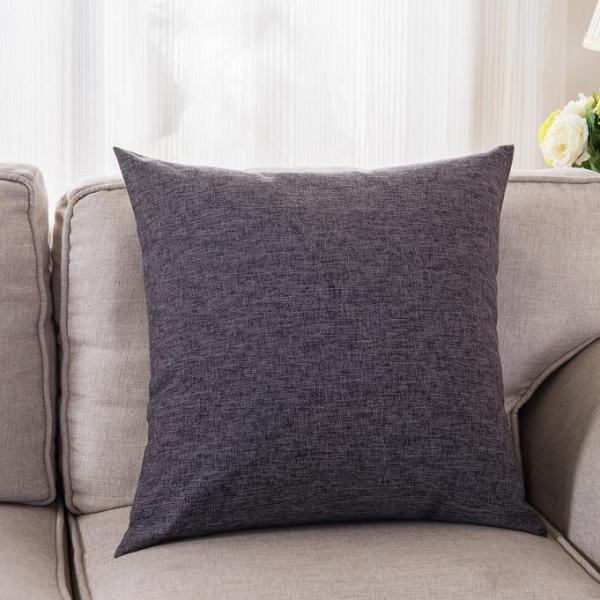 Cushion/Pillow Cover Only (Dark Grey)- Cotton Linen 45cm X 45cm