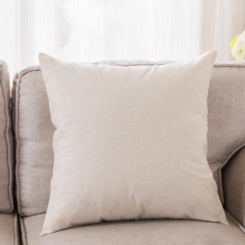 CUSHION/PILLOW COVER ONLY (OFF WHITE)- COTTON LINEN 45CM X 45CM