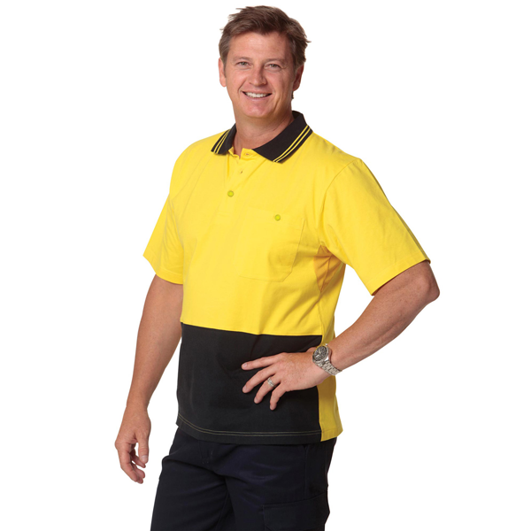 Cotton Jersey Two Tone Safety Polo (Australian Industrial)