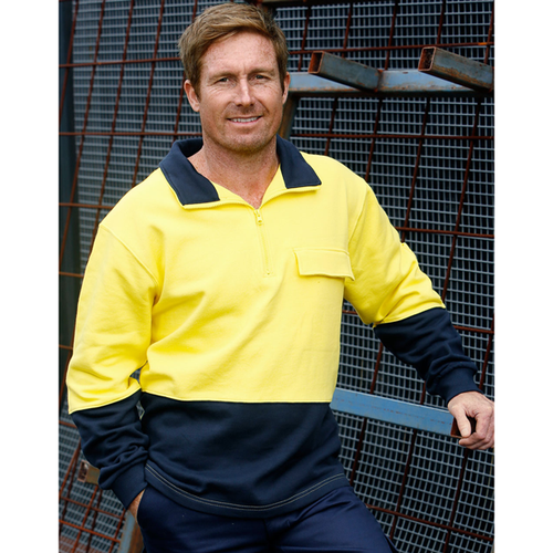 Hi-Vis Two Tone Cotton Fleecy Sweat (Australian Industrial)