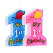 Handmade 1st Birthday Candle